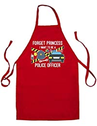 Forget Princess Police Officer - Unisex Fit Adult Apron - 8 Colours