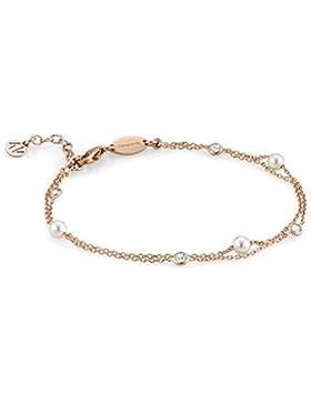 Nomination Damen-Armband BELLA 925 Silber teilvergoldet Zirkonia weiß Perle 18.5 cm - 142655/011