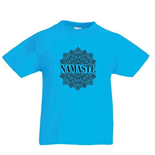 98a7d067ec lepni.me Camiseta para Niño Niña Meditación Yoga Namaste Mandala Zen Regalo  Espiritual para