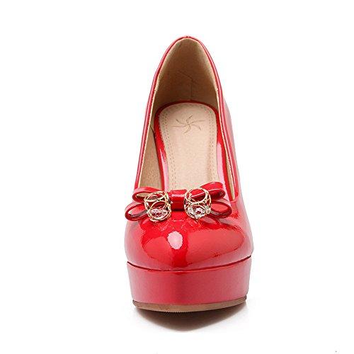 Unknown, Scarpe col tacco donna Red