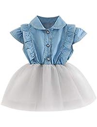 Amazon.it  abito bimba - Grigio   Bambine e ragazze  Abbigliamento e36f5c794f8
