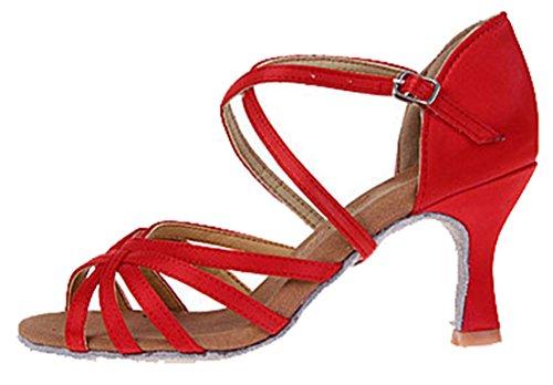 TDA ,  Damen Tanzschuhe 7.5cm Red