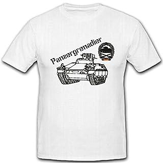 Panzergrenadier PzGren Marder Panzer Sonderkraftfahrzeug Bundeswehr Geschütz Waffe Militär Heer - T Shirt #3576, Größe:Herren 4XL, Farbe:Weiß