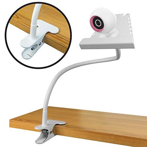 Baby-Monitor-Halter - kleine Universal-Clip für Krippe - keine Notwendigkeit, ein Regal an der Wand oder in der Ecke zu montieren - Stand kompatibel mit allen Kamera-Baby-Monitore - weiß