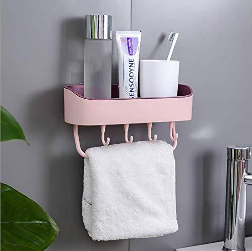 Tuniya Badregal Duschkorb Badhalter Dusche Caddy Speicherorganisator Selbstklebende Duschregal Wandhalterung Ablage für Bad Küche -