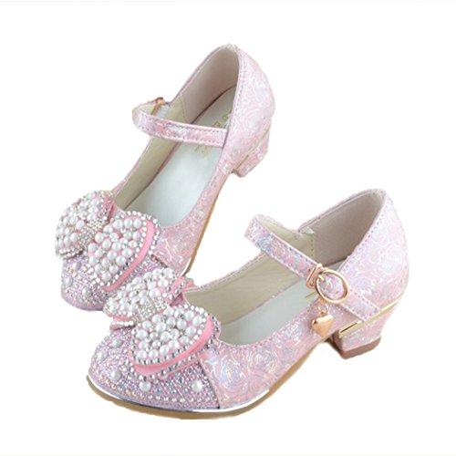 Tsingbei Prinzessin Gelee Partei Absatz-Schuhe Stöckelschuhe für Kinder Sandalette