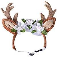Moliies Ablaze Zal Cute Pet Supplies Navidad Pet Reindeer Diadema Banda para el Cabello