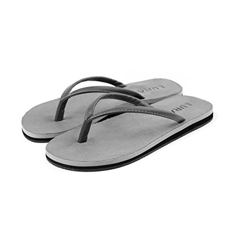 Baymate Unisex Adulto Infradito Antiscivolo Coppie Pantofole Spiaggia Sandali Uomo Grigio