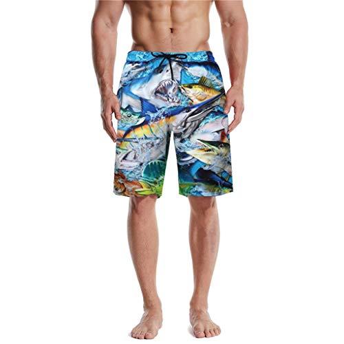 Pantalones Cortos de Playa para Hombre Verano Casual Moda bañador Deportivos de Surf pantalón Corto...