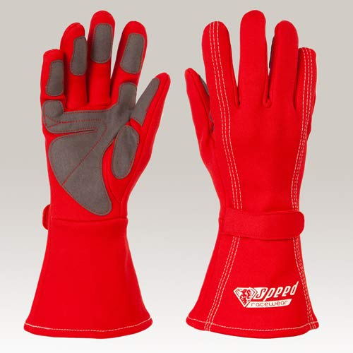 Speed Kartsport Handschuhe Auckland - Motorsport Handschuhe (rot, 12)