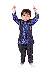 Tiny Toon Embroidered Cotton Kurta, Waistcoat and Breeches Set Full Sleeve