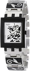 Reloj Swatch SQUARE de mujer, cuarzo, correa de acero inoxidable multicolor sumergible a 30 metros de Swatch