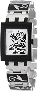 Swatch Ladies Evening Only Silver Dial Bracelet Watch