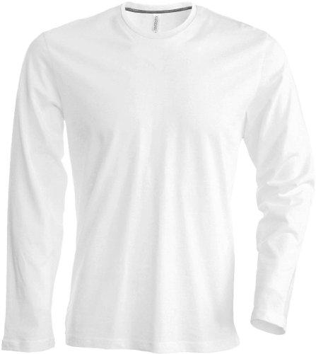 Kariban Long Sleeve Crew T-Shirt Weiß - Weiß