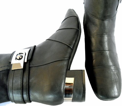 Marco Barbosa Tozzi standard à large extensible Bottes Noir mat