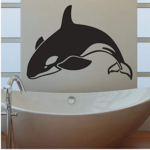 Lovemq 50 * 70 Cm Orca Killerwal Badezimmer Wohnzimmer Schlafzimmer Zeitgenössische Abziehbild Fenster Stick Abnehmbare Vinyl Wandkunst Aufkleber Aufkleber -
