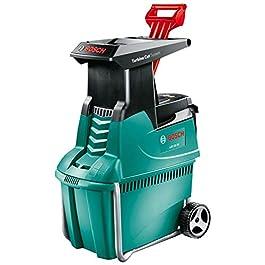 Broyeur de végétaux Bosch – AXT 25 TC (2500W, poussoir pour déchets verts, bac 53L, débit: 230 Kg/H, coupe maximale: Ø 45 mm)