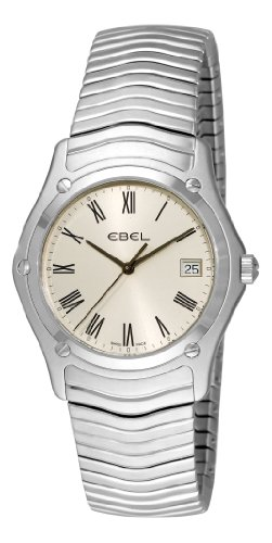 Ebel Classic 1215437 Stainless Steel Mens Watch Silver Dial Calendar Quartz...