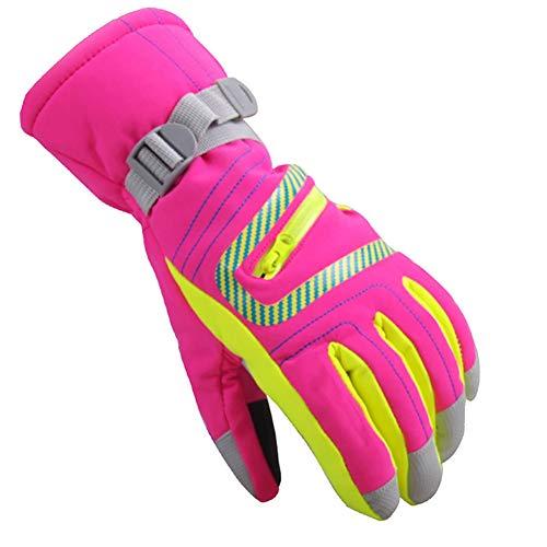 e04d3e710dab40 Rowentauk Wasserdichte Ski Handschuhe, Mädchen Schnee Handschuhe Warm  Snowboard Radfahren Snowmobile Winter Thermal Handschuhe mit verstellbaren  Manschetten ...