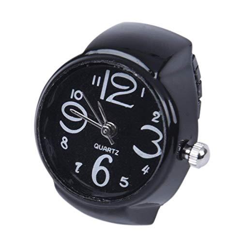 TOOGOO(R) 22mm Rund Ringuhr Finger Uhr Fingeruhr Uhrenring Metall TOP