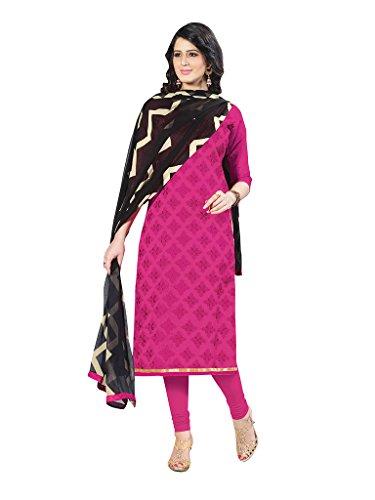 Applecreation Women's Chanderi Cotton Salwar Kameez (Pink, 21SPRK2111)