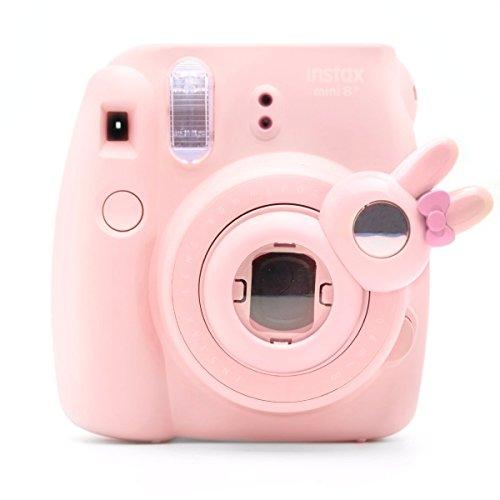 Süßes Häschen Selfie und die Nahaufnahme Lens für Fujifilm Instax Mini8 Mini8s Hellokitty Instant Kamera(Pink Häschen)