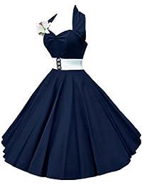 VKStar®Retro Chic ärmellos 1950er Audrey Hepburn Kleid / Cocktailkleid Rockabilly Swing Kleid