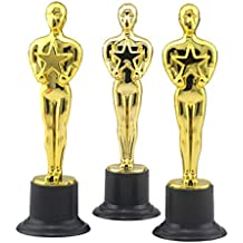 Toyvian Premios 12pcs Golden Award Trophy Rewards para Ceremonia de Celebraciones del Partido Regalo de Reconocimiento