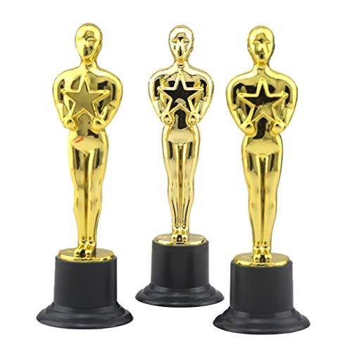 Toyvian 12 stücke Golden Award Trophäe Belohnung Preise für Party Feierlichkeiten Zeremonie Anerkennung Geschenk Sport Awards (Party Awards Thema)