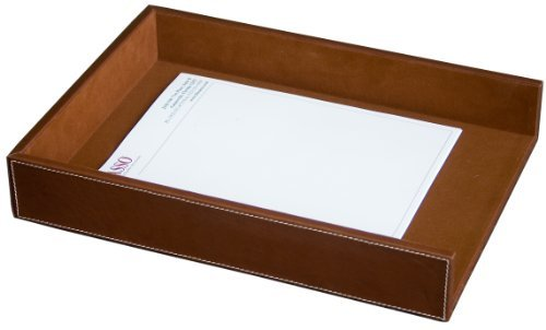 Dacasso Rustic Brown Leather Letter Tray, Legal Size by Dacasso (Legal Letter Tray)