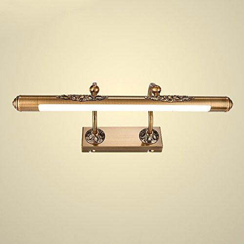 Fu Man Li Trading Company Brown bronzo bagno impermeabile anti-fog LED specchio Fari A+ ( (Antico Brown Parete Specchio)