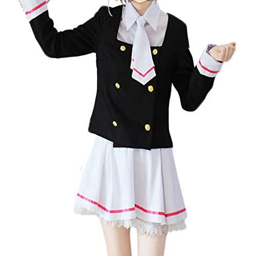 or Sakura Cosplay 3 Set Uniformen Oben und Unten Socken Yugeto Grundschuluniform Kostüm Kirsche (Size : M) ()