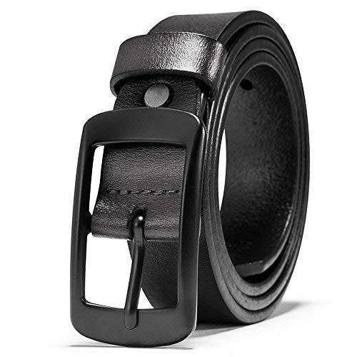 Cinturón De Cuero De Cuero Puro Para Cinturón Regalos Hombres Para Jóvenes Jóvenes Mareas Simples Gente Cintura Fashion (Color : Colour, Size : 130cm)