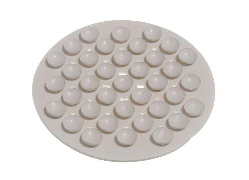 ventouse savon titulaire caoutchouc blanc (pack de 2)