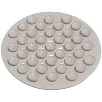 Onestopdiy.com - Portasapone a ventose in gomma, bianco, confezione da 2 pezzi