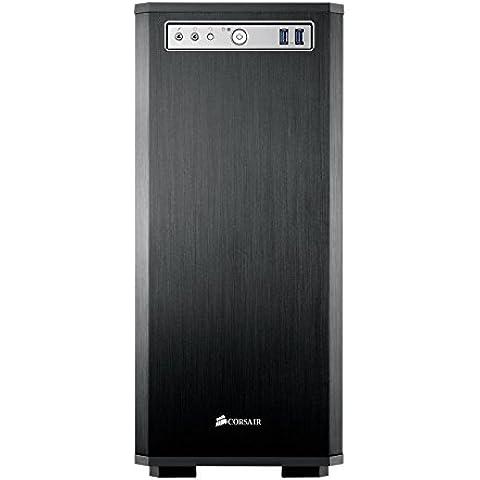 Corsair Obsidian Series, 550D, in alluminio spazzolato, Quiet-Case Mid Tower per PC con porta frontale, (Rivestimento Di Raffreddamento Fan)