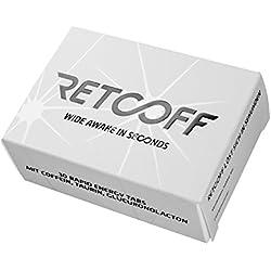 Retcoff Rapid Energy Tabs - Schnelle Wirkung durch im Mund schmelzendes Tab mit Koffein / Taurin / Glucuronolacton - Förderung der Konzentration, Koordination, Kreativität und Vigilanz