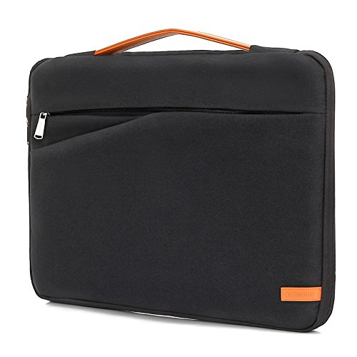 KINGSLONG Housse pour Ordinateurs Portables Antichoc Housse de Protection Ordinateur 17 Pouces imperméable Pochette PC Portable Sacoche pour Ultrabooks De (Noir)