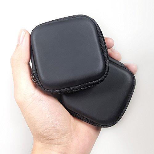 Kopfhörer-Hülle, tragbare Aufbewahrungstasche für Bluetooth-Kopfhörer, Kabel, iPhone, Ladegerät, Airpods, USB-Flash-Treiber, MP3 (quadratisch)