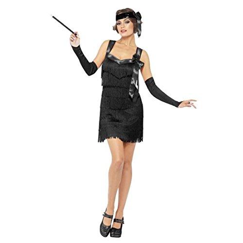 23er Jahre Kleid schwarz Charleston Kostüm S 36/38 Flapperkostüm Charlestonkostüm Charlestonkleid Showgirl Damenkostüm