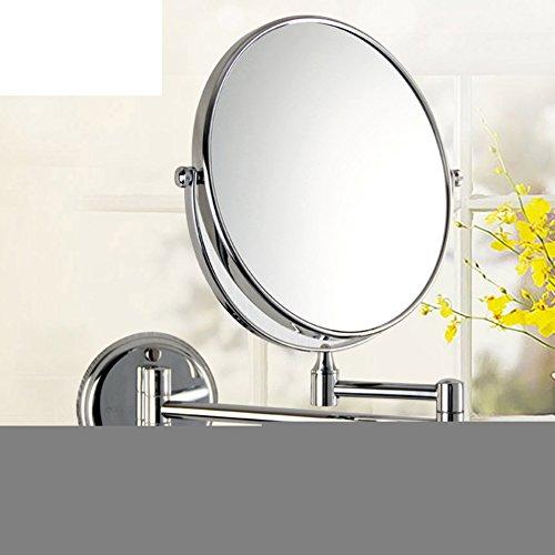 specchio di vanità bagno/Double-sided specchio pieghevole/Parete specchio telescopico/ ottone magnifying glass-A
