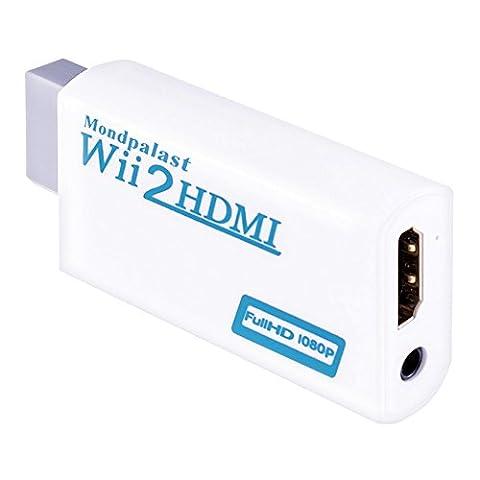 Mondpalast @ Wii vers HDMI Signal vidéo Convertisseur Wii2HDMI Adaptateur