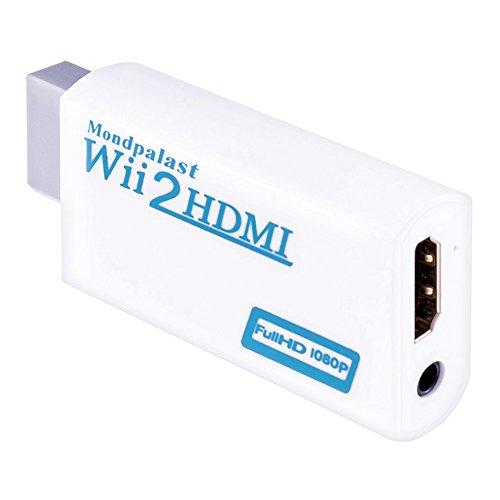 Hdtv-konsole (Mondpalast @ Wii zu HDMI Konverter Wii2HDMI Adapter 1080P Full HD mit 3,5 mm Stereo-Audio-Buchse für Nintendo WII wii Konsolen Monitor HDMI HDTV Beamer)