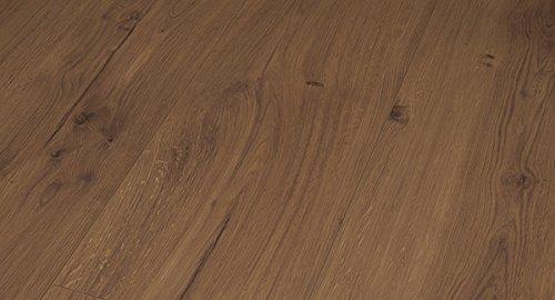 PARADOR Vinylboden Modular One - Eiche Spirit geräuchert 1730809 - Designboden Schlossdiele XXL Holzstruktur mit integrierter Kork-Trittschalldämmung und Klick-Verbindung - Paket a 3,102m²