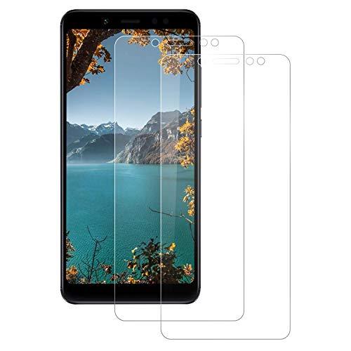 FayTun [2-Pack Protector de Pantalla para Xiaomi Redmi Note 5, Cristal Templado para Xiaomi Redmi Note 5, Vidrio Templado Dureza 9H, Sin Burbujas, Anti Rasguños, 3D Touch Compatibles