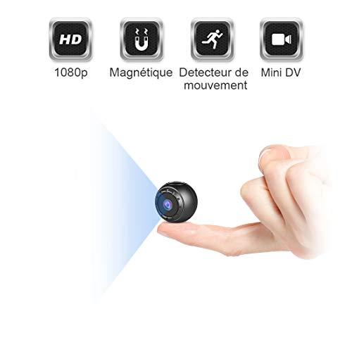 Mini Camera Espion Enregistreur,MHDYT Full HD 1080P Micro Spy Cam sans Fil Petite Nanny Caméra Cachée avec Vision Nocturne et Detecteur de Mouvement, Intérieure /Extérieure Caméra de Surveillanc
