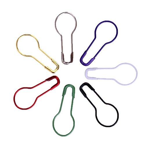 Amazingdeal365 100PCS Stricken Häkeln Locking Maschenmarkierer aus Metall -