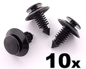 10x Clips Agrafes Plastique - 10 Clips Panneau Garniture Habitacle Portière Tableau Bord Pour FORD - N801925-S, N801925S, N801925 - LIVRAISON GRATUITE!