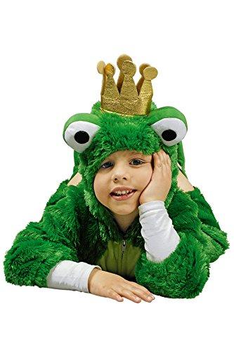 Froschkönig Kostüm für Kinder | Größe 98-122 | 1-teiliges Märchen Kostüm für Karneval | Frosch Faschingskostüm (140-152)