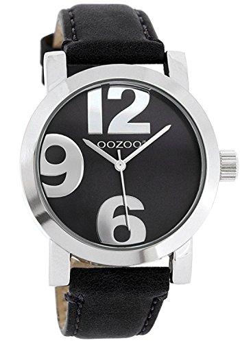 Oozoo JR194–Uhr für Frauen, Lederband schwarz